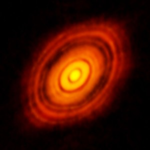ALMA image of the protoplanetary disc around HL Tauri
