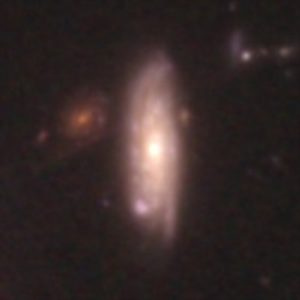This image, taken by the NASA/ESA Hubble Space Telescope, shows a galaxy similar in mass to the Milky Way. The galaxy is seen as it was 3.1 billion years ago.